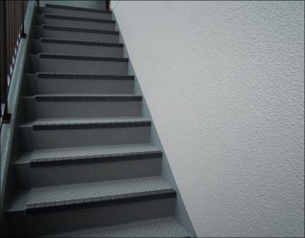 階段防水施工後