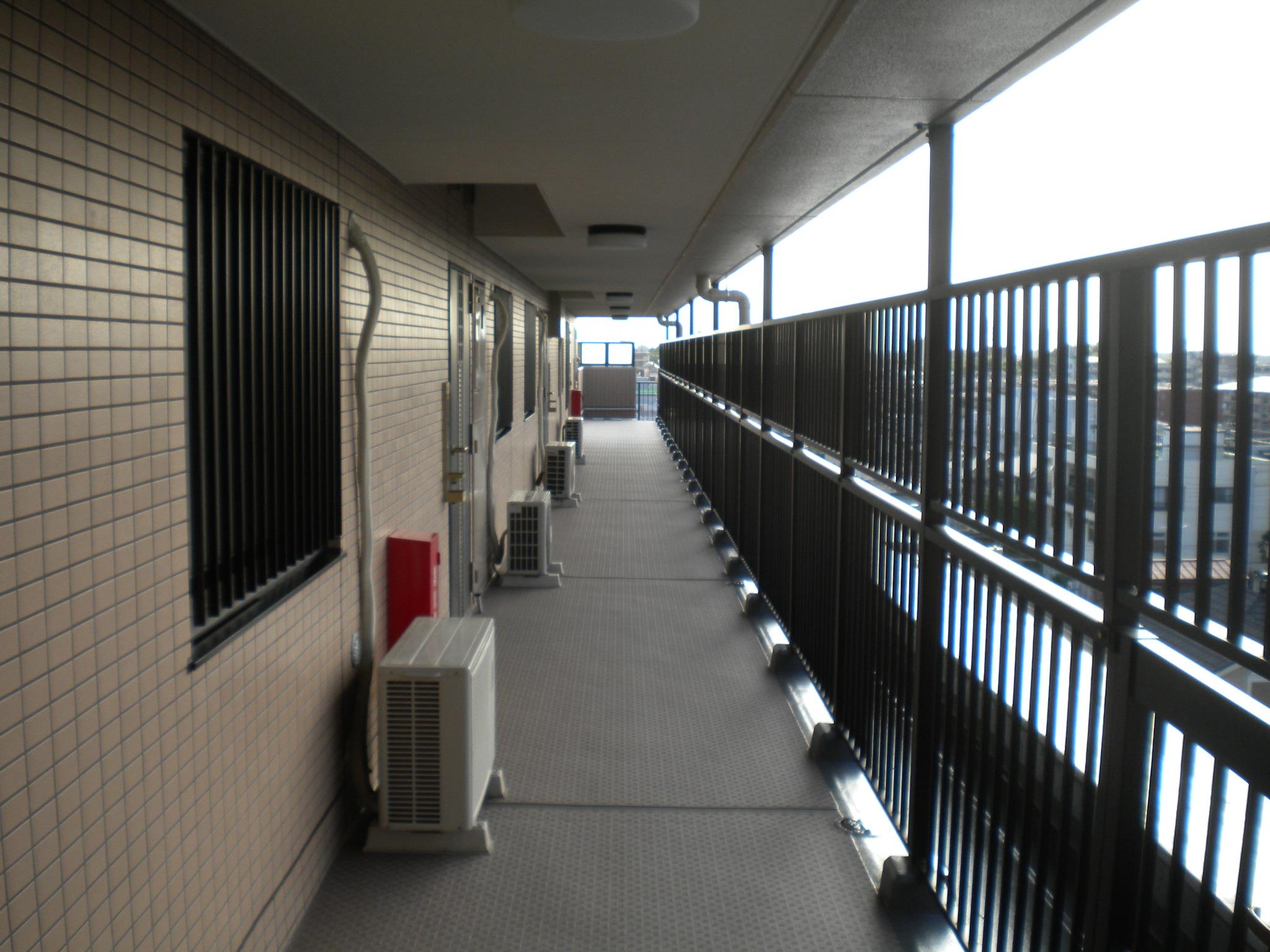 廊下防水施工後